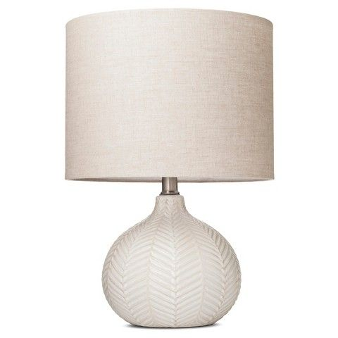 Herringbone Ceramic Table Lamp   Cream (Includes CFL Bulb)   Threshold™