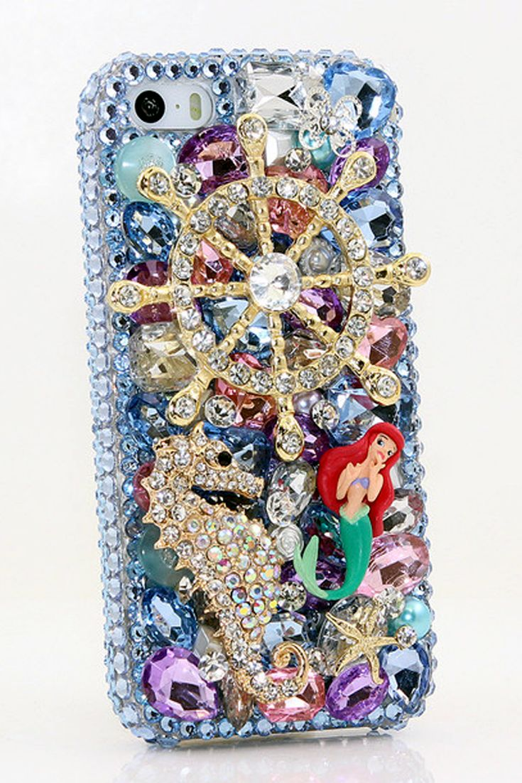 The Ocean Design iPhone 5 / 5S/ 5c Bling case - Cute Bling iPhone 5 5s 5c cases for girls phone covers. http://luxaddiction.com/collections/3d-designs/products/the-ocean-design-style-777