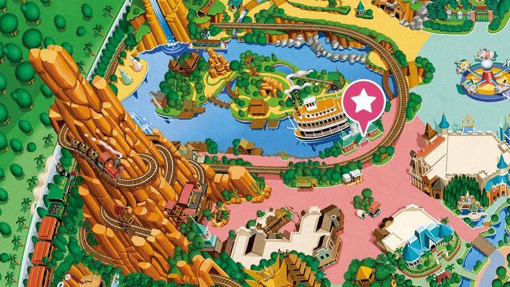 東京ディズニーランドのアトラクション「蒸気船マークトウェイン号」のご紹介。水上の宮殿と呼ばれる3階建ての優雅な蒸気船、アトラクション「蒸気船マークトウェイン号」の紹介ページ。