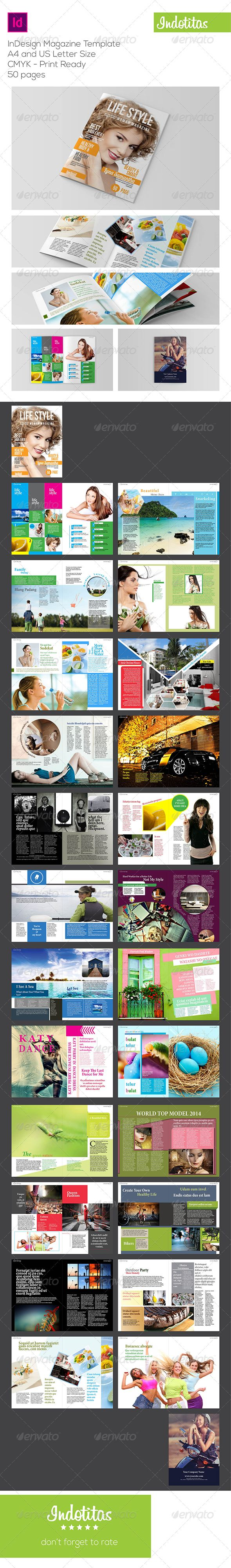 InDesign Magazine Template — InDesign INDD #customizable #elegant • Available here → https://graphicriver.net/item/-indesign-magazine-template-/6827588?ref=pxcr