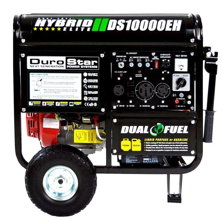 DuroStar 10000 Watt Hybrid Dual Fuel Portable Gas Propane Generator $649.99 + Free Shipping!