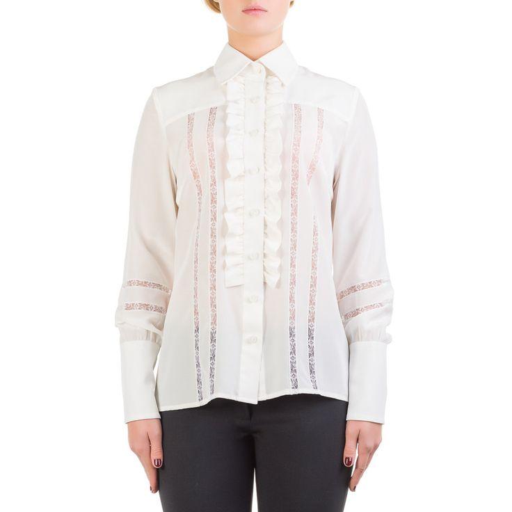 Camicia in crepe de chine, fatta a mano PEZZO UNICO taglia 42 - Shirt in