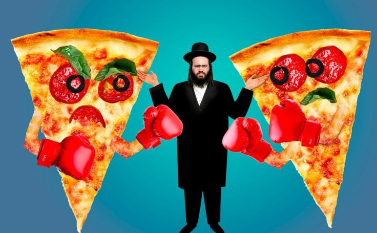 "Kosher Pizza War Erupts In Hasidic Brooklyn — And Jewish Court Slices The Pie; by Michelle Honig  ""....sounds like some kinda joke,..but these Hasids take their pizza serious!"""