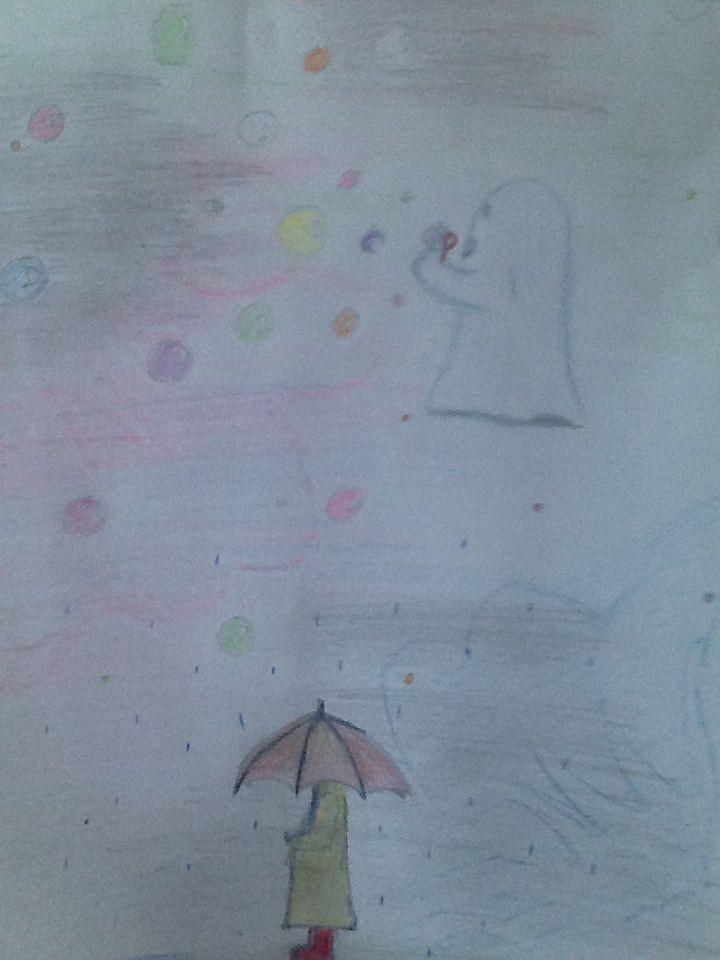 Dette er et lite bilde jeg tegnet når jeg skjeder meg i timen på skolen.