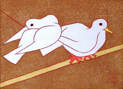 熊谷 守一 - 鳩(1972)