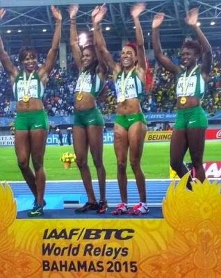 Welcom To ibmbng's Blog: [WOMEN: Team Nigeria wins gold at IAAF World Relay...