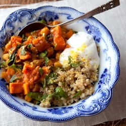 Moroccan Sweet Potato Stew with Quinoa - A wonderfully flavorful and healthy dish!