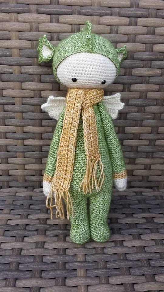 DIRK the dragon made by Mandy van Z. / crochet pattern by lalylala