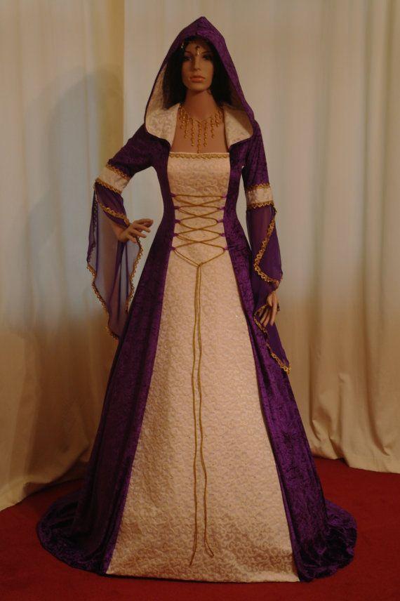 medieval handfasting renaissance Wedding dress custom made