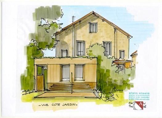 extension de maison en ossature bois pr s de paris. Black Bedroom Furniture Sets. Home Design Ideas