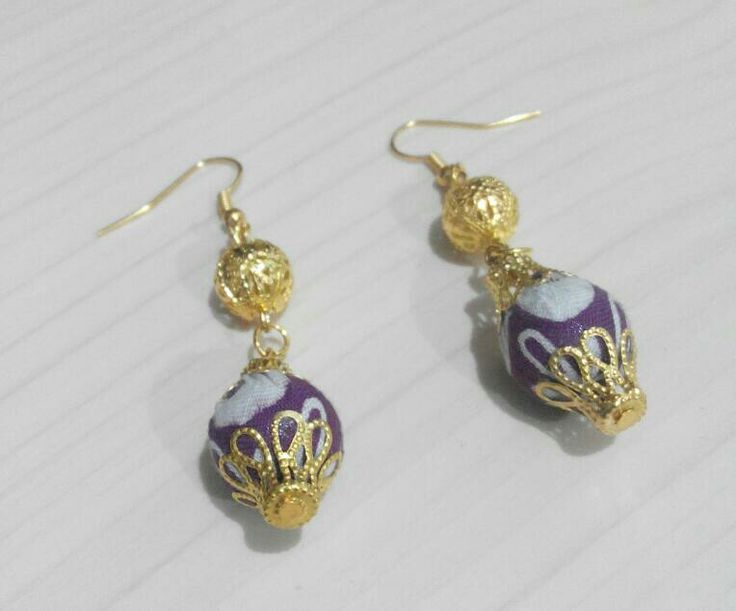 Batik earrings #batik #Jewellery #ethnic