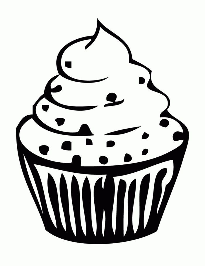 Cupcake Coloring Pages In 2020 With Images Cupcake Coloring