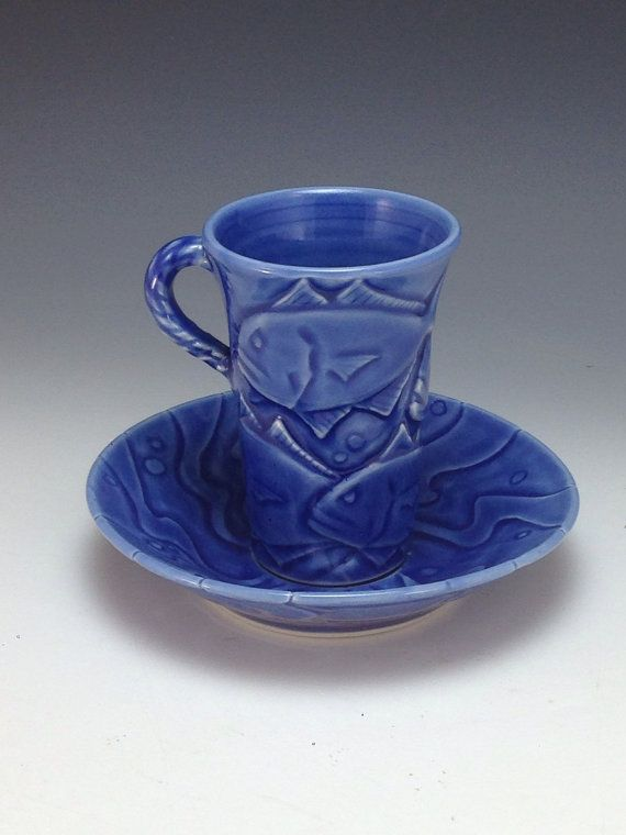 Demitasse  Wheel thrown Porcelain with Bas Relief Carving by Anne Webb #demitasse #pottery #wheelthrown #basrelief #carved #etsy $125