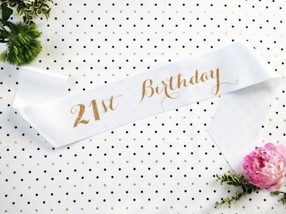 21st Birthday Sash Finally 21 Twenty First by ShadesOfPinkBtq