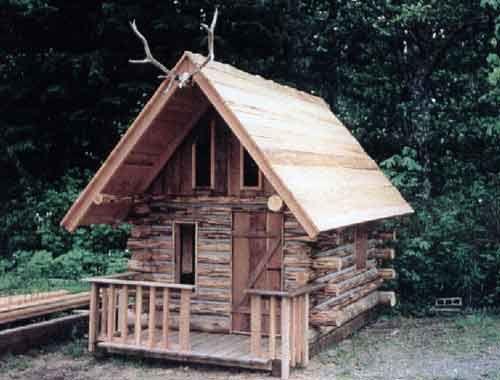 DIY log cabin for kiddos