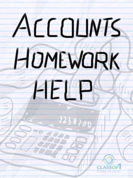 Homework help for accounting