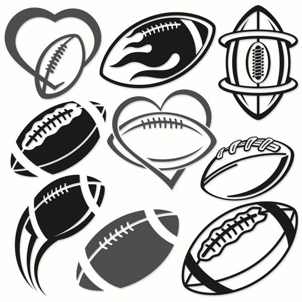 Football Decal Svg Cuttable Designs