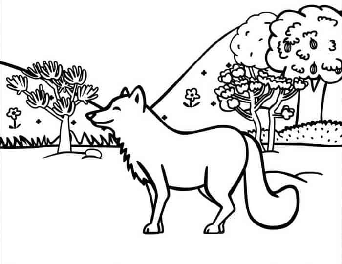 Cute Animal Coloring Pages For Children In 2020 Fox Coloring Page Coloring Pages Nature Animal Coloring Pages
