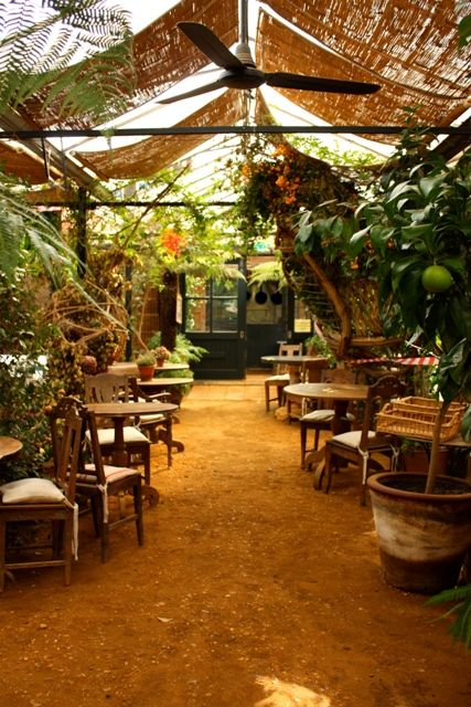 The cafe at Petersham Nurseries - where to go in London when you want a taste of the tropics