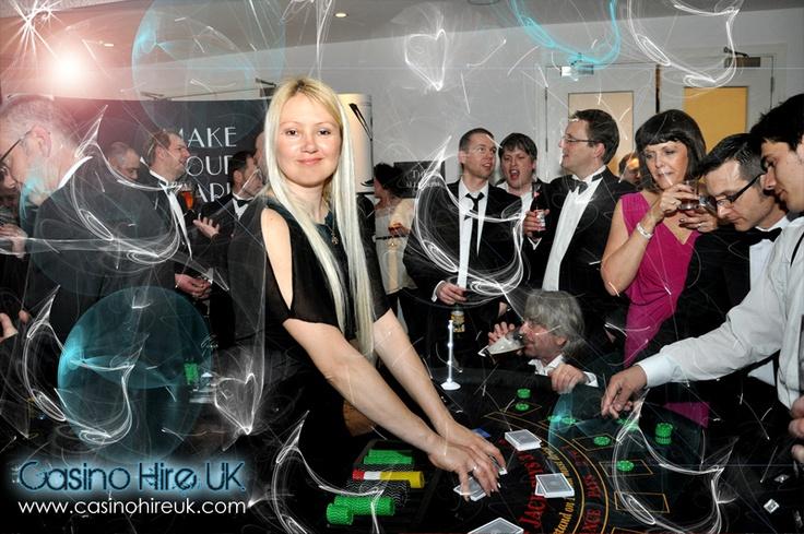 casino dealer at recent event