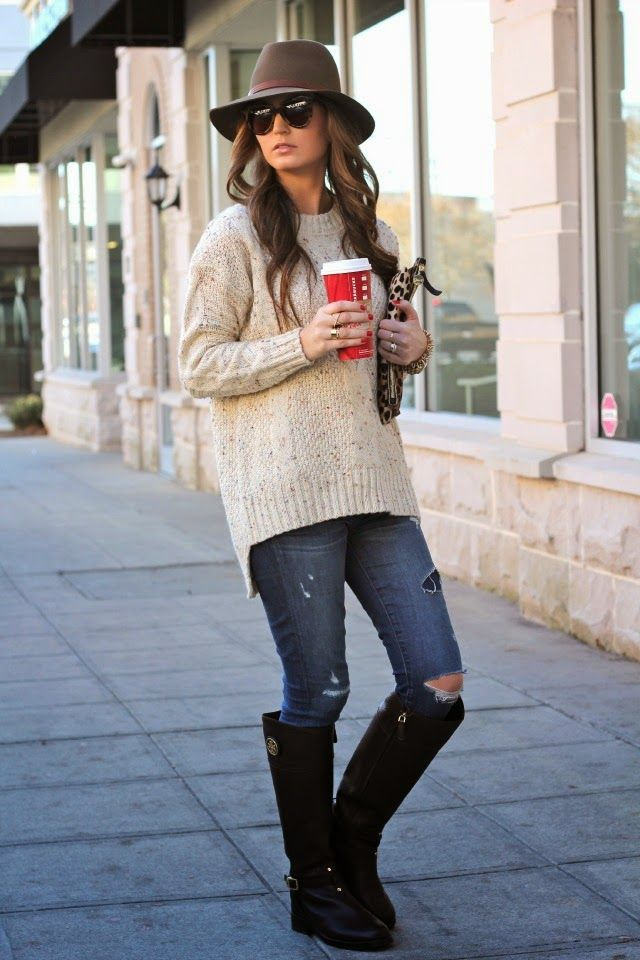Cable Knit + Coffee