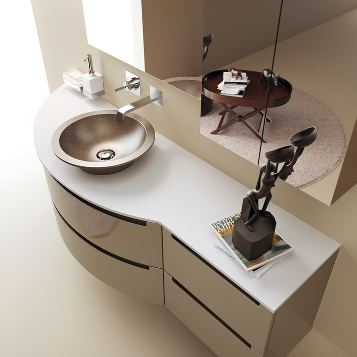 #kylpyhuone #scavolini #decorkylpyhuoneet #kylpyhuonekalusteet #sisustus  Idro kylpyhuonekaluste Scavolini Idro Collection by #Scavolini #Bathrooms