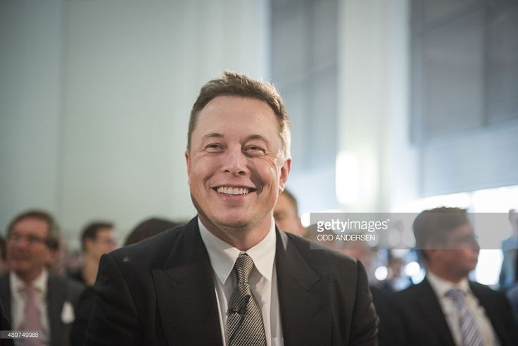 US automotive and energy storage company Tesla's CEO Elon Musk, the South African-born Canadian-American business magnate, engineer, inventor and investor takes part in a seminar on the business of the future hosted by German Economy Minister Sigmar Gabriel at the economy ministry in Berlin on September 24, 2015.