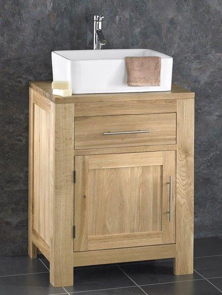 60 x 50 x 80 Alta Solid Oak Single Door Bathroom Basin Cabinet £399 Basin = 36 x 45 x 16