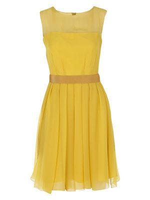 perfect little yellow dress. maxmara.