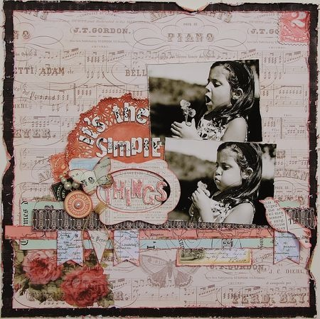 Layout using Pink Paislee's London Market