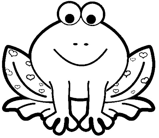free printable animal coloring pages frogs frog color - Picture To Color For Kids