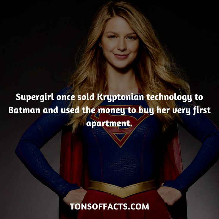 Supergirl once sold Kryptonian technology to Batman and used the money to buy her very first apartment. #supergirl #tvshow #justiceleague #comics #dccomics #interesting #fact #facts #trivia #superheroes #memes #1 #movies #superman