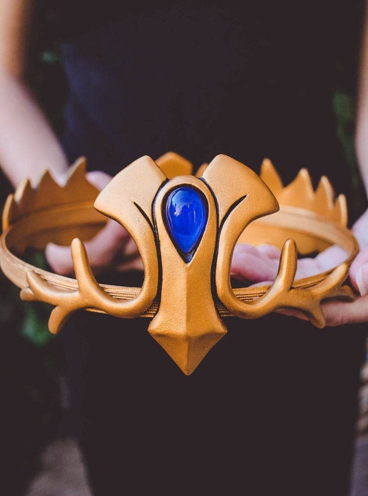The Legend of Zelda Crown cosplay, Elven Crown, Golden Crown Video Games Cosplay Geeks Wedding Bridal Tiara, Zelda's Twilight Princess crown