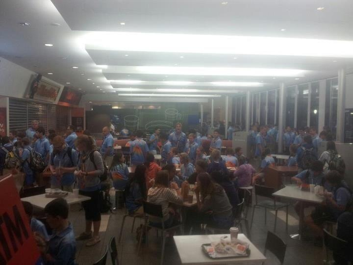 JAM FM: We just received this photo of a few bus loads of NSW scouts taking over a service station on the Qld/NSW border.. If you have any photos share it with everyone by posting it on our wall!!