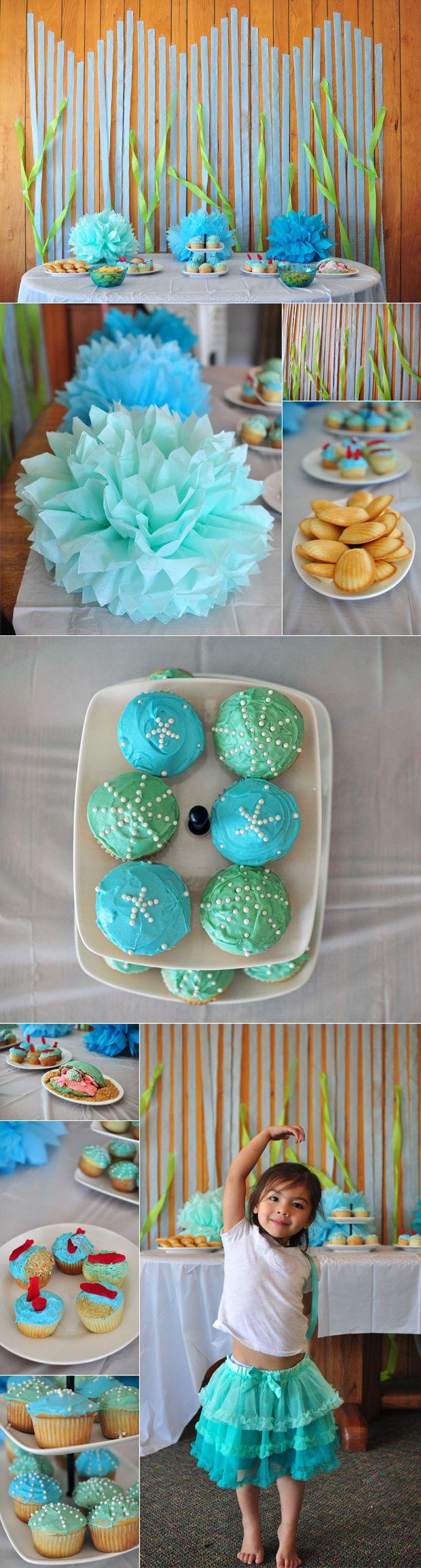 ocean-themed birthday dessert table by Donaville Herrick / featured on dearestnature.com