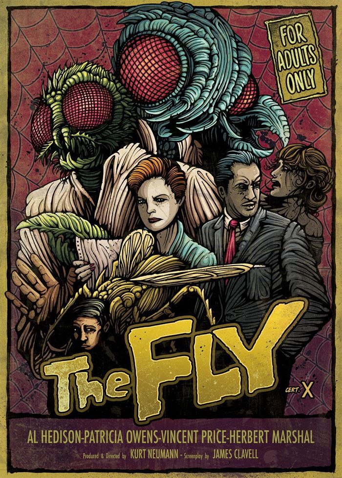 Alternative Movie Poster for The Fly by Dan Mumford