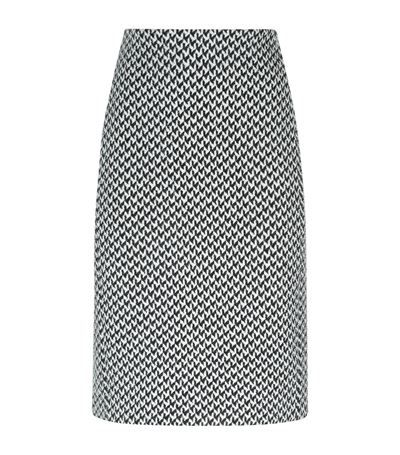 Armani Collezioni Textured Houndstooth Pencil Skirt | Harrods