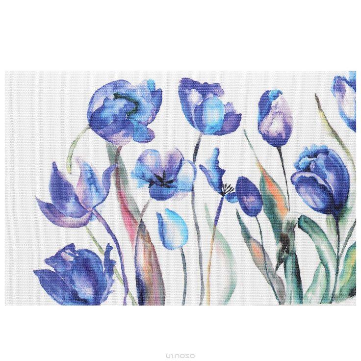 Подставка под горячее Hans & Gretchen Синие цветы, 45 см х 30 см