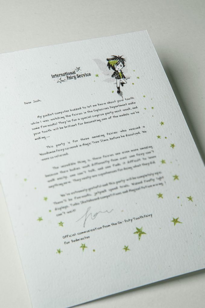 invitation letter for judging an event%0A Tooth Fairy Letters No      u     Fairies With  u    Special Needs u     Become Heroes