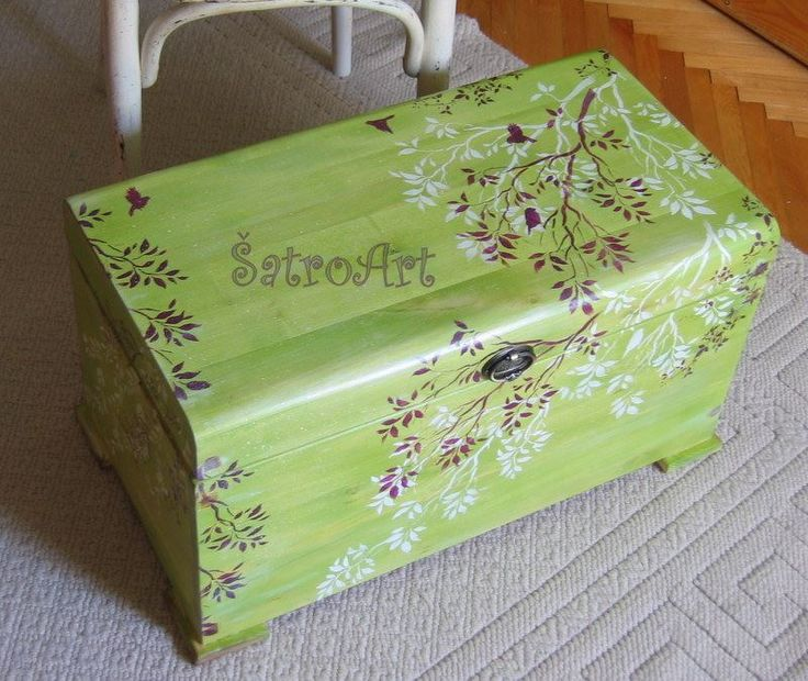 Large wooden box handpainted,  more on  https://www.facebook.com/ShatroArt