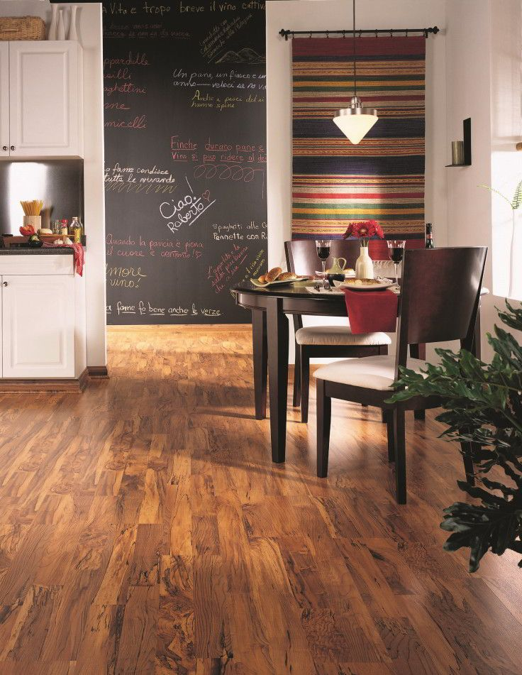 Realistic wood and tile looking laminate flooring is one of the most durable  and environmentally friendly