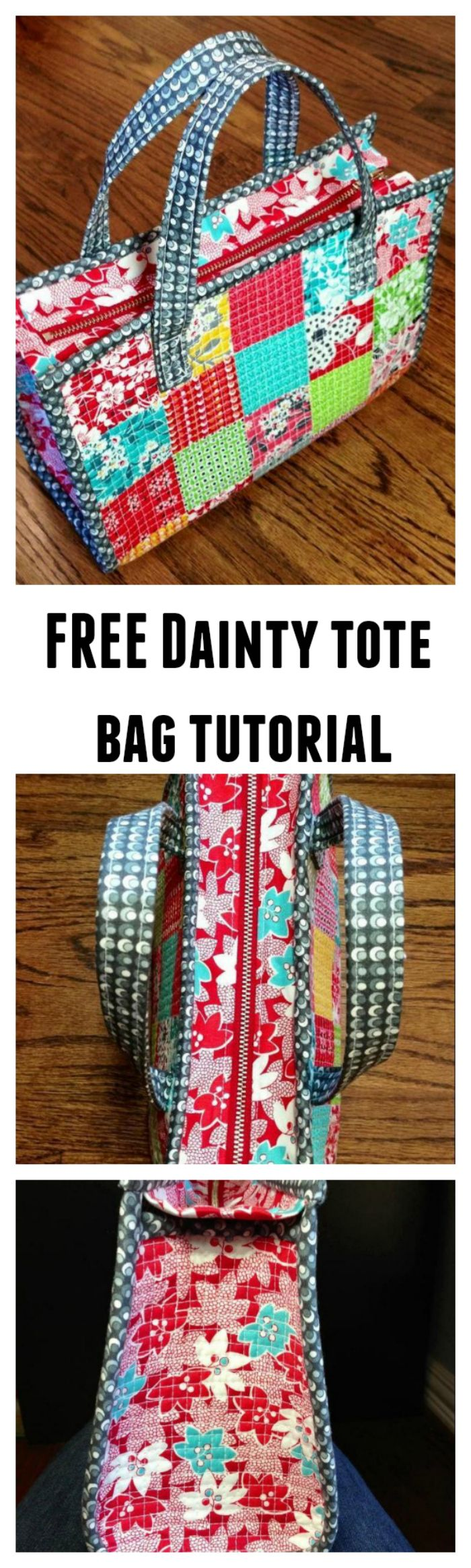 Try this FREE pattern of the Dainty tote bag. This beautiful FREE pattern needs basic sewing skills so why not give it a go.