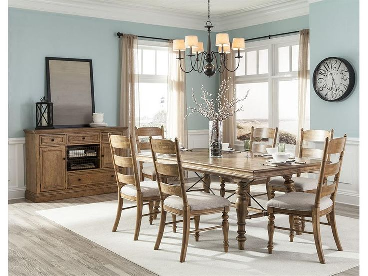 Intercon Dining Room Lake House Trestle Table LH TA 42104 BSD