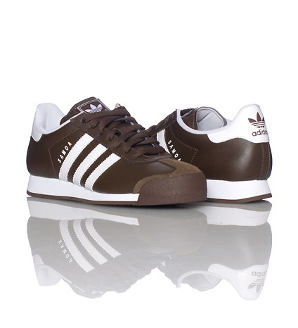 brown white samoa adidas
