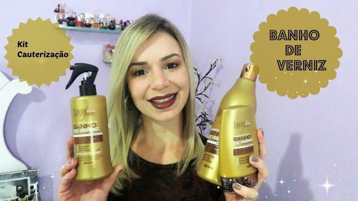 Olá pessoal... Gravei esse vídeo do kit cauterização banho de verniz da forever liis especialmente para cabelos danificados e quimicamente tratados... Espero...