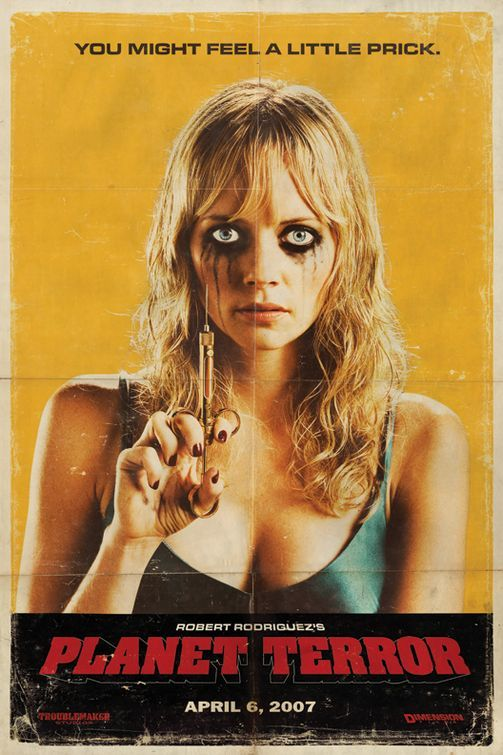 "MP236. ""Planet Terror / Grindhouse (II)"" American Movie Poster by Troublemaker Studios (Robert Rodríguez 2007) / #Movieposter"