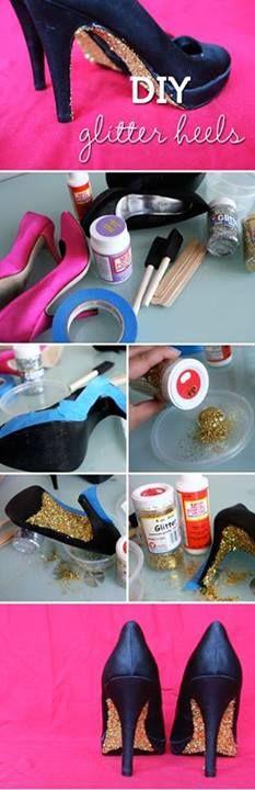 DIY glitter heels (as seen on Facebook)