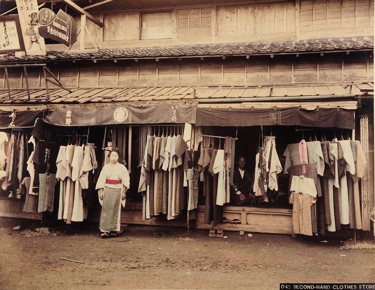 d45 second hand clothes store 1880 1890 museum f r kunst und gewerbe hamburg cc0 japan. Black Bedroom Furniture Sets. Home Design Ideas