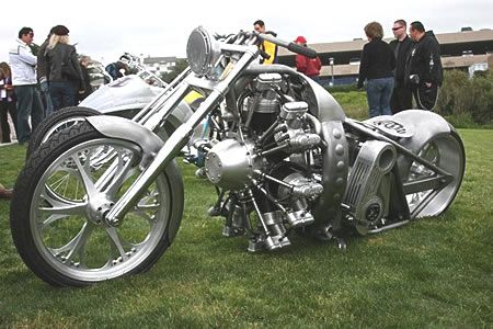 I would never ride one, but this radial engine custom is beautiful.
