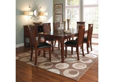 dining sets dining tables casual brown finish storage shelves